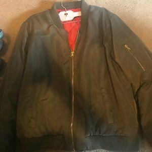 Army cropped utility jacket